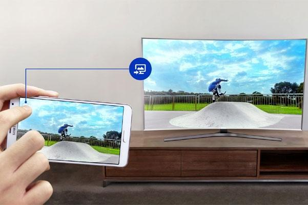 Interazione smartphone monitor tv