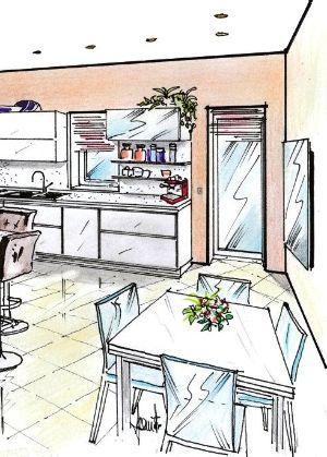 Zona pranzo in cucina multifunzione