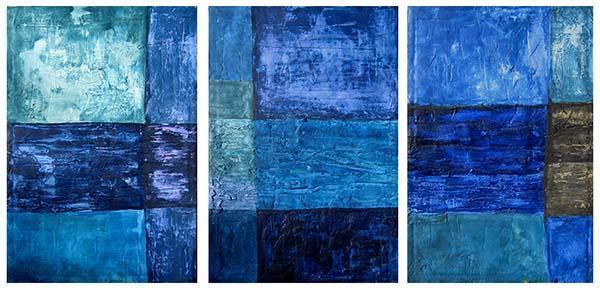 Trittico in blu, di Patrizia Trevisi