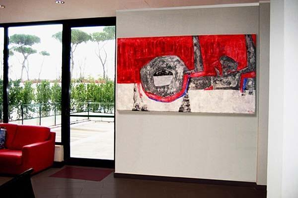 Dipinto per la hall di una Piscina, realizzato da Patrizia Trevisi