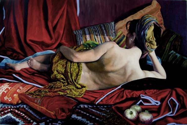 Ritratto di donna, realizzato da Patrizia Trevisi