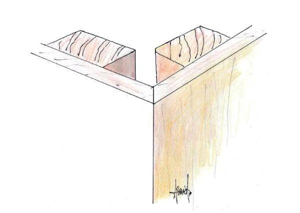 Rivestimento con pannelli, di pareti conformate ad angolo esterno