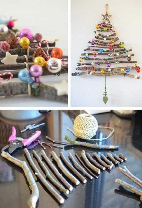 Albero di Natale fai da te utilizzando arredi di casa