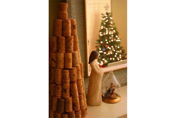 Albero di Natale con tappi di sughero di Pinterest