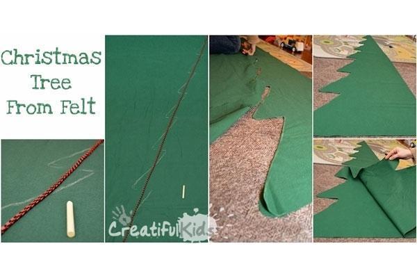 Preparazione albero feltro