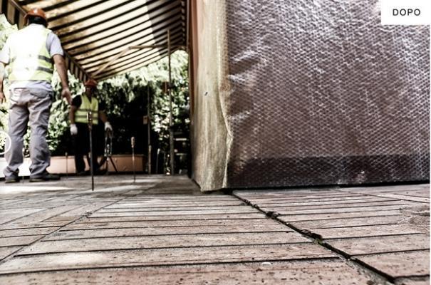 Consolidamento pavimento dopo iniezione con resine