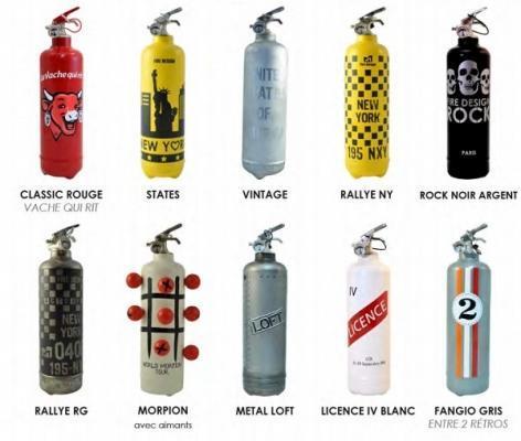Estintori di design particolari di Fire-Design