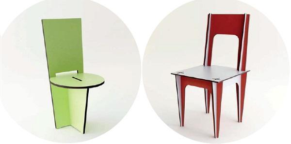 Sedie a incastro di Mario Pagliaro Design