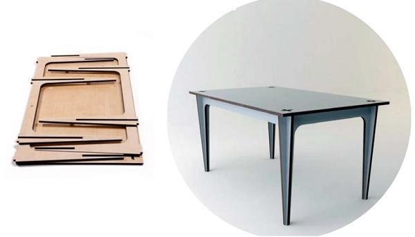 Tavolo a incastro croce, di Mario Pagliaro Design