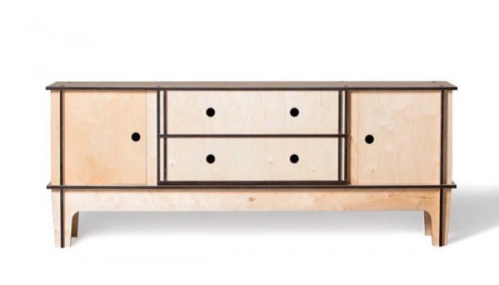 Consolle ad incastro in legno di Mario Pagliaro Design