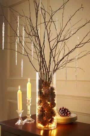 Illuminare vasi in vetro