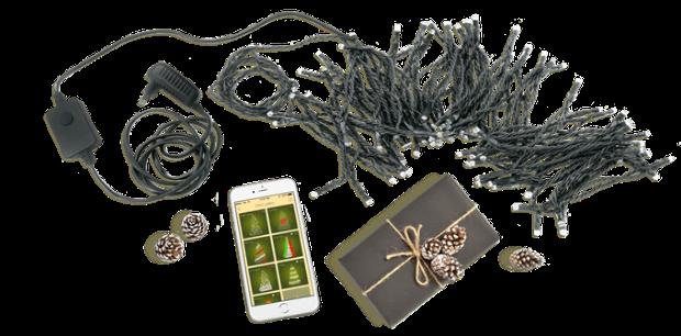Kit luci di Twinkly per l'albero di Natale dallo smartphone su Amazon