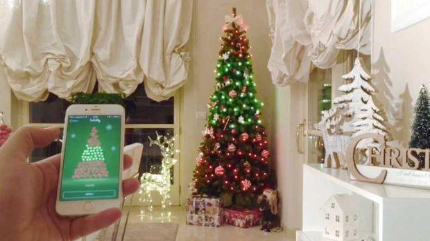 Controllo luci di Twinkly per l'albero  dallo smartphone su Amazon