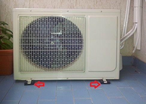 Supporti antivibranti per una Pompa di calore