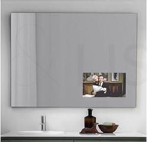 Specchio TV Spy di Artelinea, con specchio televisivo integrato.