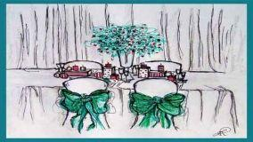 Addobbare il soggiorno di casa con decori natalizi