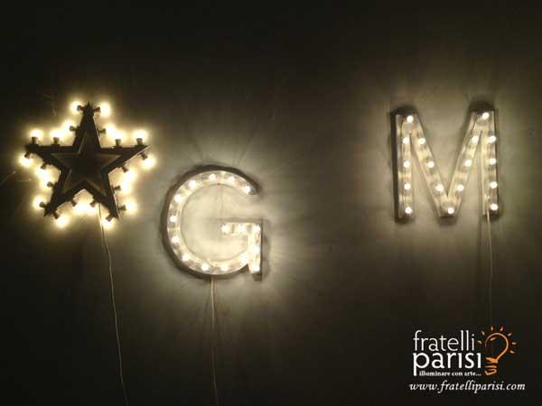 Lettere personalizzate e stella di Fratelli Parisi