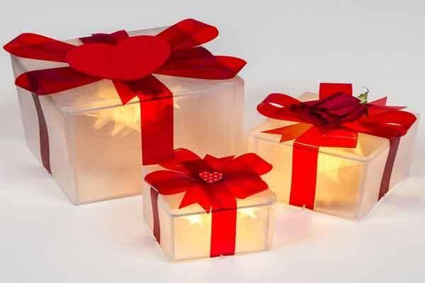 Pacchi Natale Luminosi.Foto Decori Natalizi Per Il Soggiorno