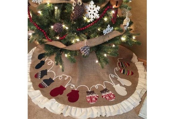 Decorazioni In Legno Per Albero Di Natale : Foto albero di natale shabby chic