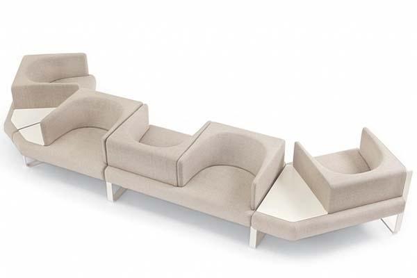 Sedute componibili per ufficio, collezione Ianus di Felice Rossi