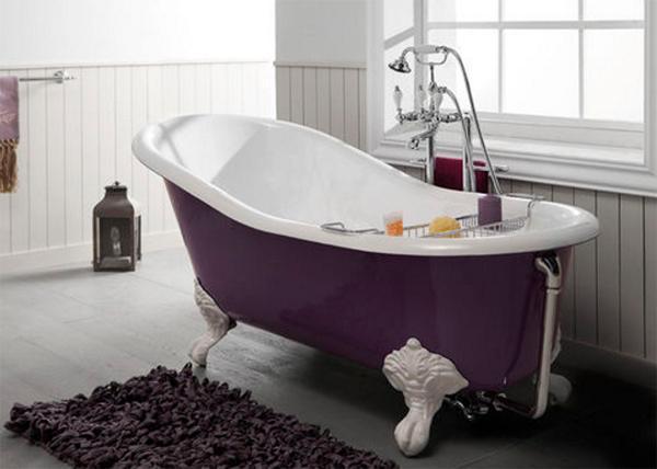 vasca da bagno retr modello in ghisa su piedistallo by bleu provence