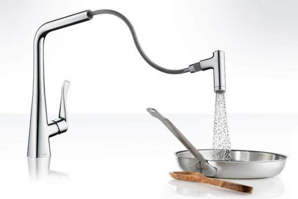 Miscelatore cucina modello Metris Select di Hansgrohe
