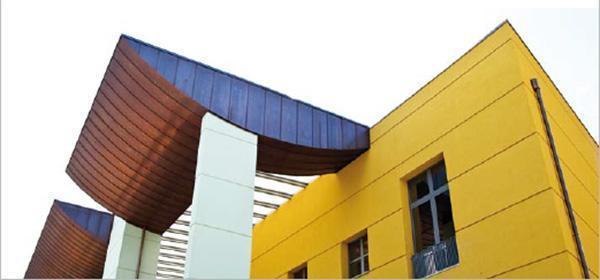 Edificio con coibentazione termica a cappotto. Dal sito dell'Azienda Mapei.