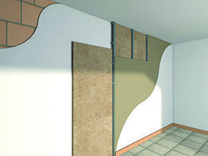 Isolamento a cappotto interno per pareti perimetrali, prodotto dall'Azienda Knauf.