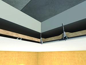 Isolamento a cappotto interno per controsoffitti, prodotto dall'Azienda Knauf.