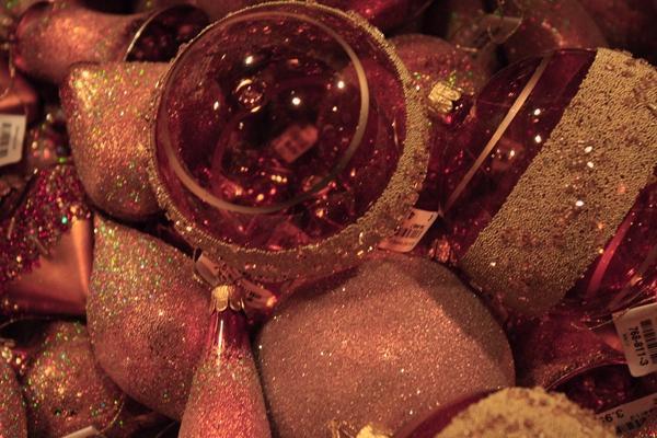 Palline natalizie rosse