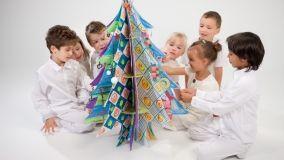 Albero di Natale in cartone riciclato