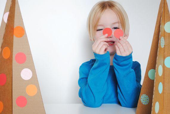 Alberello in cartoncino di Minted.com