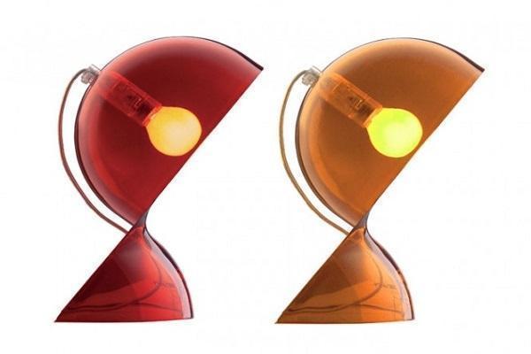 Lampada Dalù di Artemide versioni rosso e arancio
