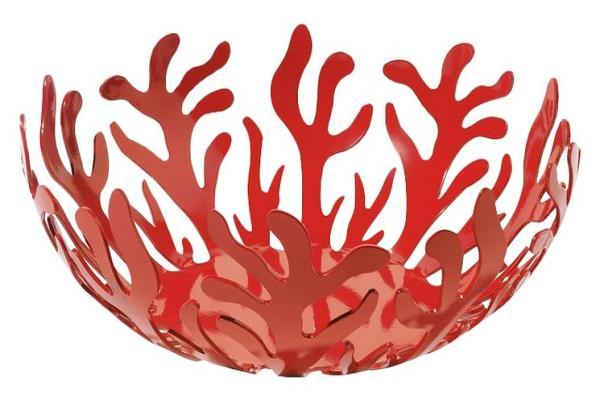 Fruttiera Mediterraneo rossa di Alessi