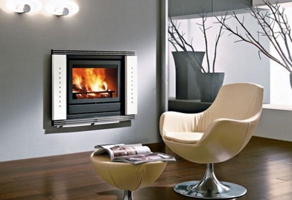 Modello termocamino a legna piatto di Edilkamin