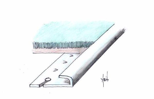 Posa moquette su soglia chiodata per vano porta
