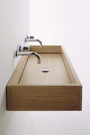 Lavabi in legno per un arredo bagno natural