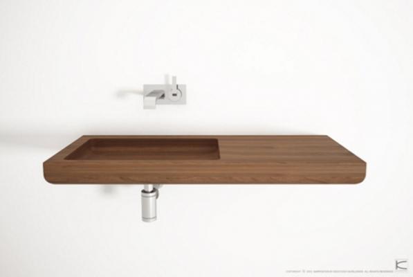 Lavabo in legno Ella di Karpenter