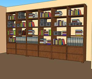 Libreria di grandi dimensioni che necessita di ancoraggi a parete