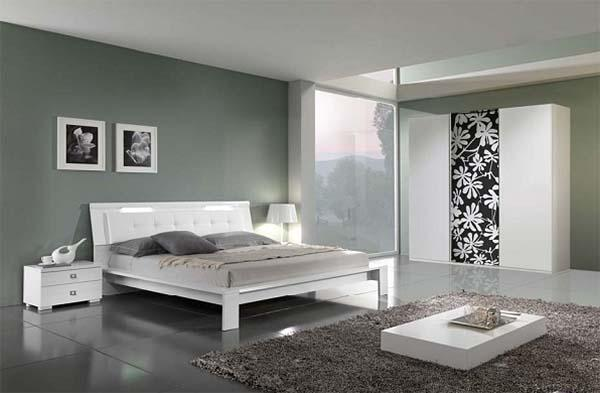 Bonus Mobili: camera matrimoniale moderna in laccato bianco, di Alexarreda.com