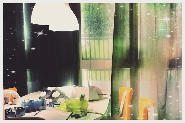 Immagini di tende da cucina tenda country a righe per la - Tende a filo ikea ...