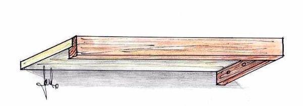 Mensola con frontalini e sostegni laterali