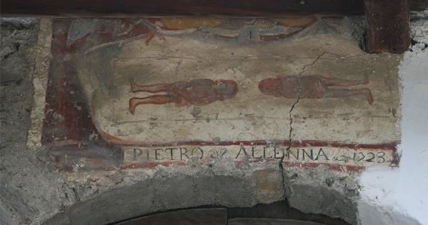 Immagine devozionale raffigurante la Sindone, Reiniero di Marmora (CN).