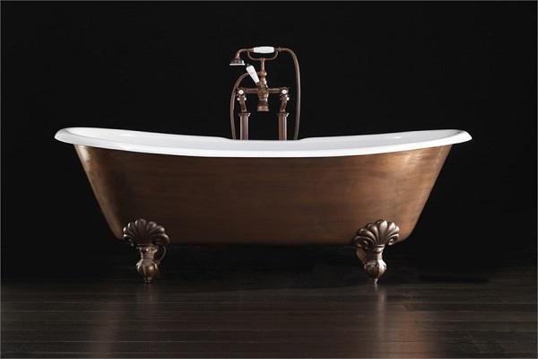 Vasca da bagno in ghisa e rame Admiral Copper Effect di Devon & Devon