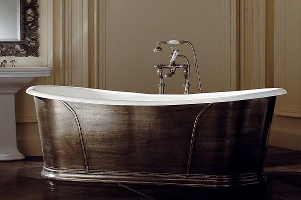 Vasca da bagno in ghisa e rame Camelot di Devon & Devon