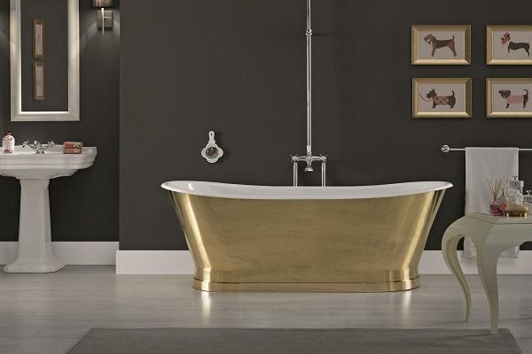 Vasca da bagno in ghisa Antica Brass di Bleu Provence