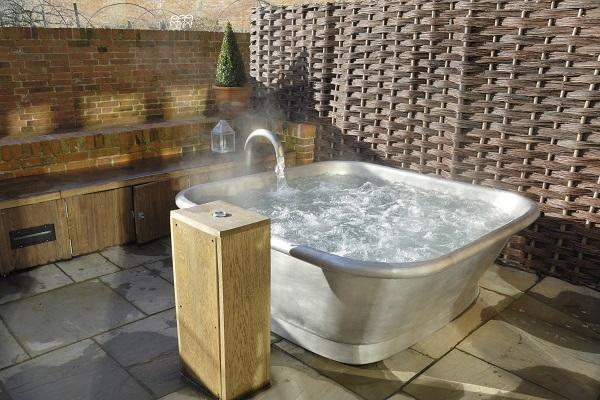 Vasca da bagno in rame Square di Bleu Provence