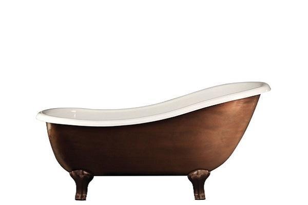 Vasca da bagno metallica Regina Copper Effect di Devon & Devon