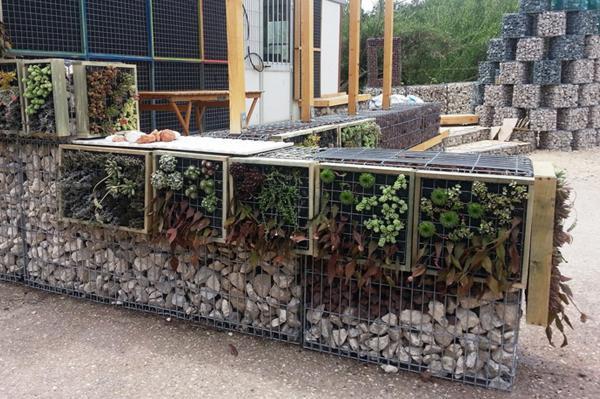 Idee per giardino, gabbioni metallici di contenimento by Iner.te.co