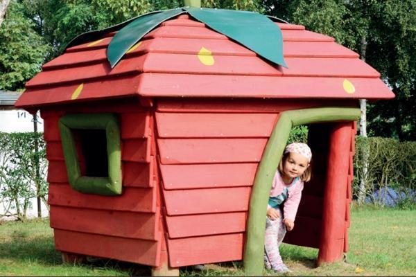 Idee per il giardino, la casa fragola di Sik-Holz